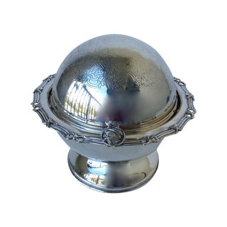 Victorian-Style Silver Plated Domed Butter Dish