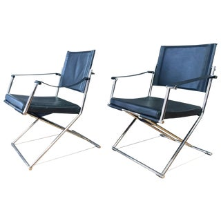 Mark Singer Euroka Folding Campaign Chairs or Gliders - A Pair