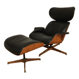 Mid-Century Plycraft Lounge Chair & Ottoman