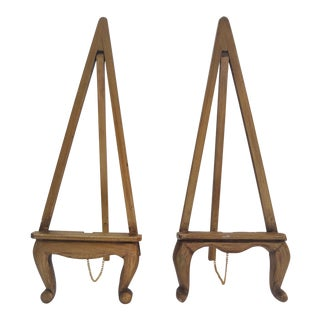 Vintage Gold Gilt Wood Table Top Easels - a Pair