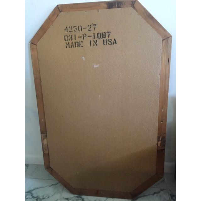 Vintage Mid-Century Faux Bamboo Mirror - Image 6 of 6