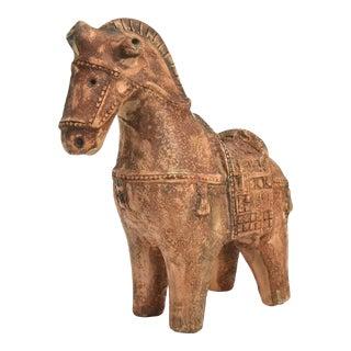 Ceramic Chinese War Horse by Aldo Londi