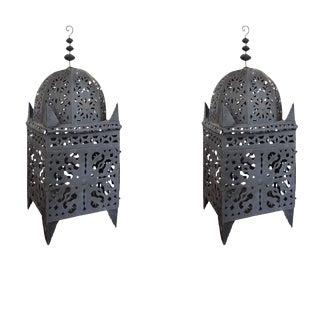 Moroccan Pierced Tin Koutoubia Style Lantern