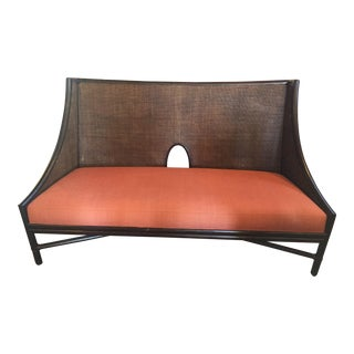 McGuire Bamboo Frame Cane Bench