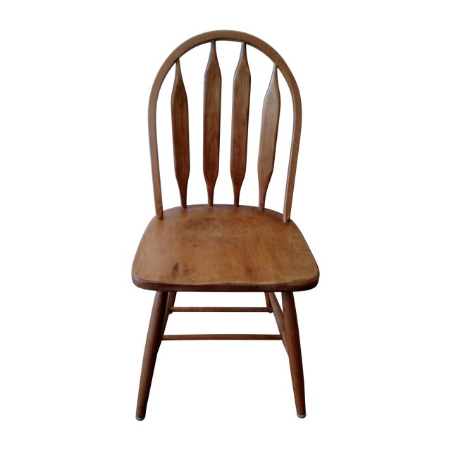 Solid Oak Windsor Chairs ~ Solid oak windsor back chair chairish