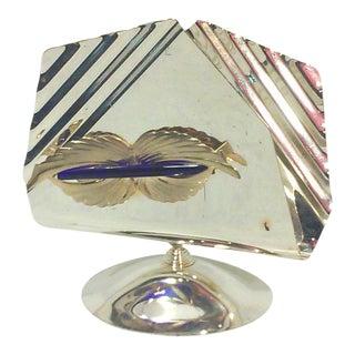 Italian Art Deco Silverplated Napkin Holder