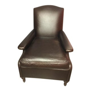 Leather Contemporary Club Chair