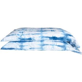 Indigo Shibori King Sized Pillowcase Set - Pair