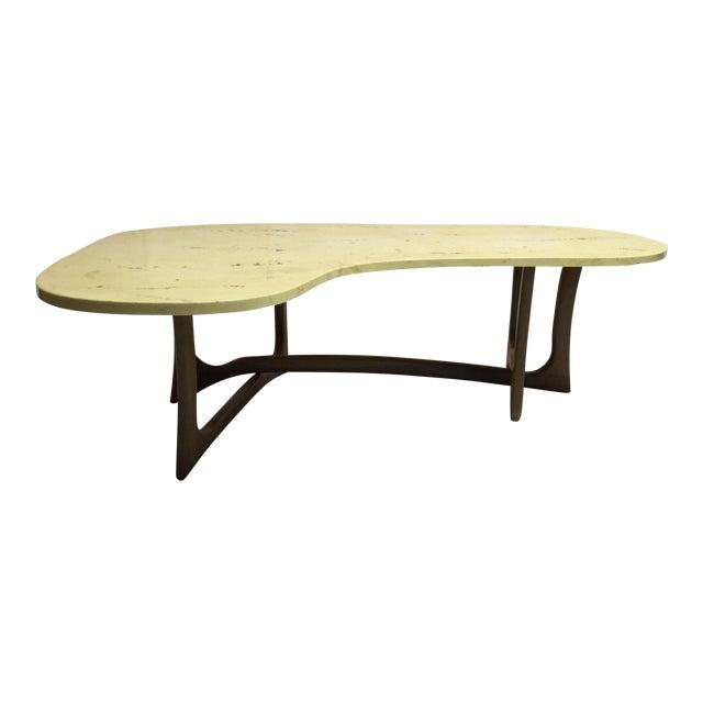 Marble Kidney Coffee Table: Mid-Century Modern Marble Top Kidney Table