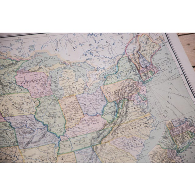 USA & Mexico Antique Pull Down Map - Image 10 of 10