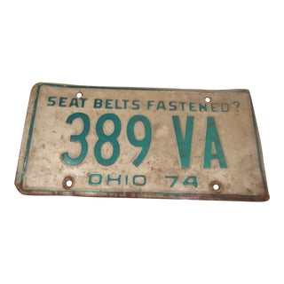 Vintage 1974 Ohio License Plate