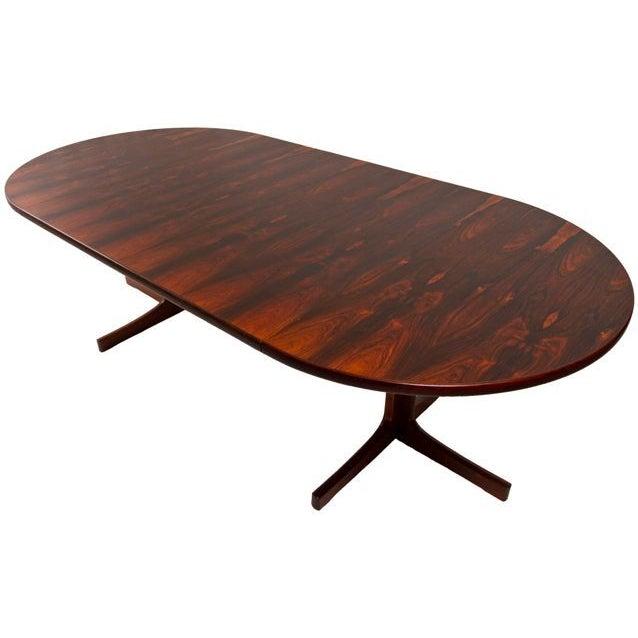 danish modern rosewood round expanding table chairish