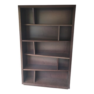 Contemporary 5-Shelf Divided Bookshelf