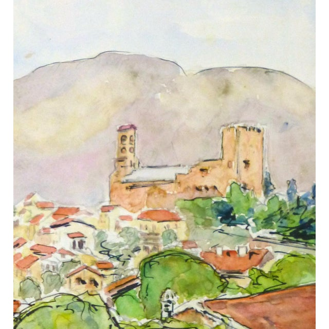 Vintage French Watercolor - Provence, France - Image 3 of 4