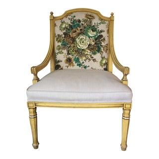 Vintage Victorian Yellow Armchair
