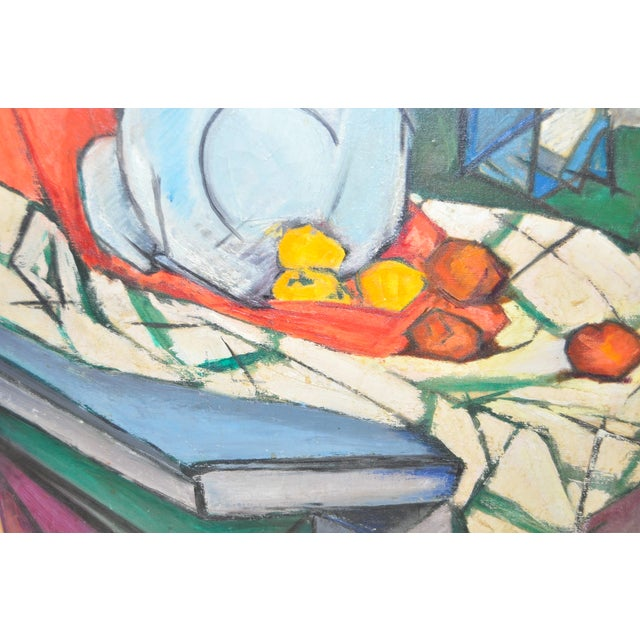 Mid Modern Still Life Oil Painting C.1950's - Image 4 of 6