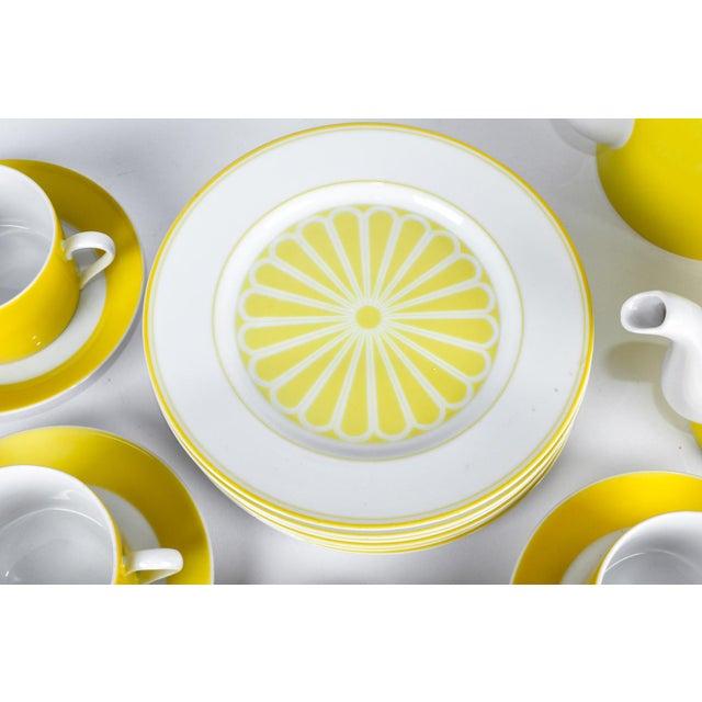 Vintage Lemon Porcelain Luncheon Service - Image 6 of 11