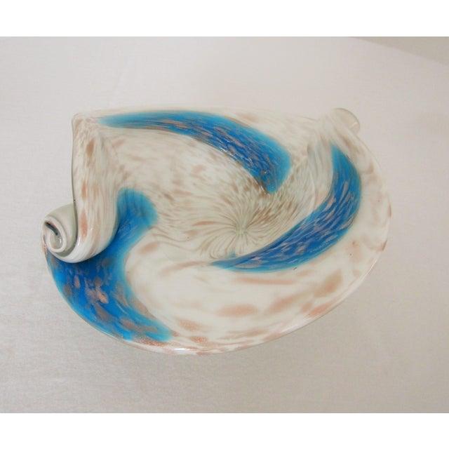 Image of Italian Murano Seguso Swirled Art Glass Bowl