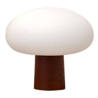 1960s Laurel Lamp Teak And Glass Mushroom Lamp
