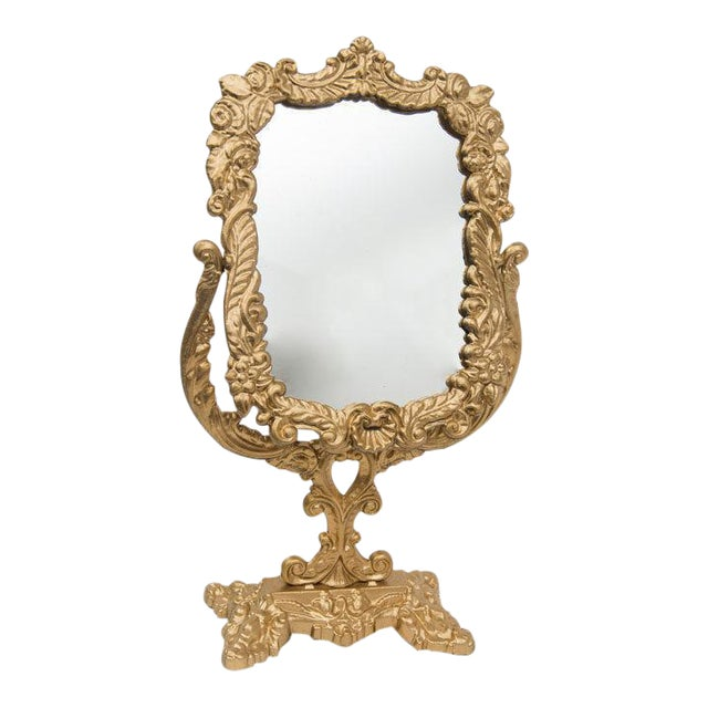 Antique Victorian Brass Mirror - Image 1 of 4