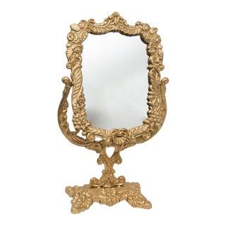 Antique Victorian Brass Mirror