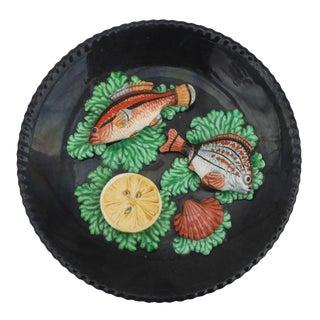 Majolica Fish & Seaweed Wall Platter
