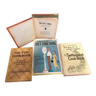 Vintage Cookbooks for Men - Set of 4