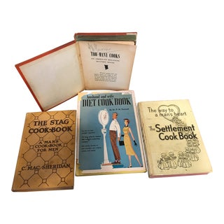 Vintage Cookbooks for Men - Set of 4