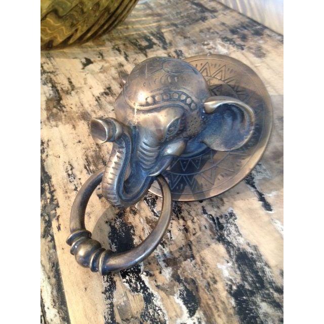 Balinese brass elephant door knocker chairish - Elephant door knocker ...