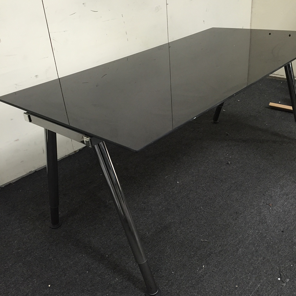 modern black glass dining table chairish