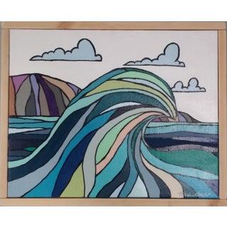 """""""Big Wave"""" Color Block Art by Kris Gould"""
