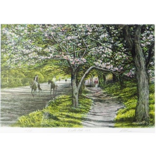 1989 Harold Altman Pencil Signed/Numbered Lithograph Bridle Path