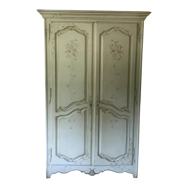 Ethan allen painted french country armoire chairish for Ethan allen country french bedroom