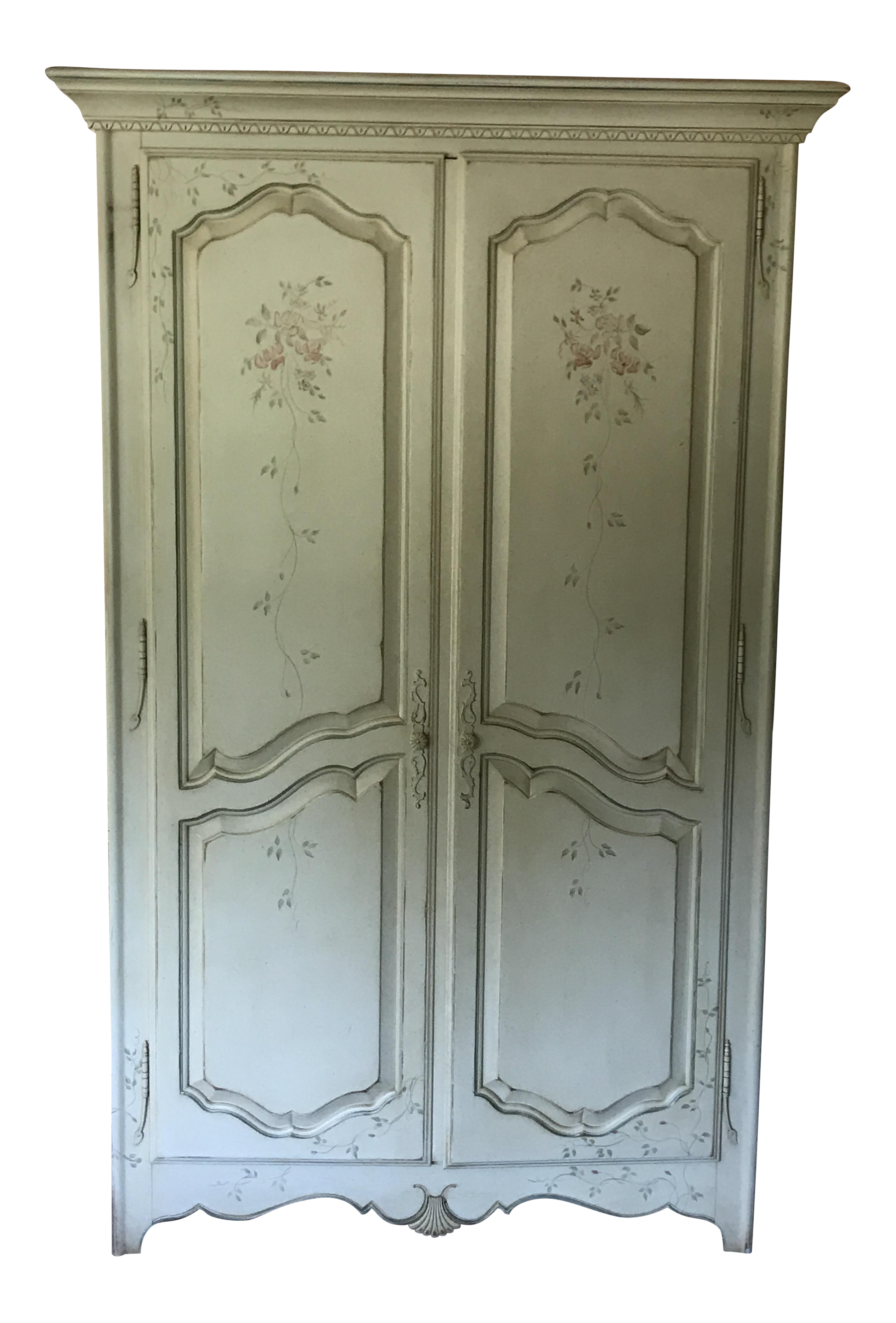 Ethan Allen Painted French Country Armoire