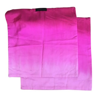 Donna Karan Pink Pillowcase Covers - A Pair