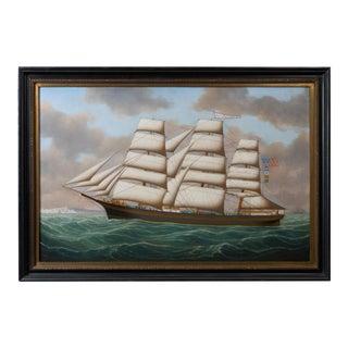 Henry Loos, Belgium or American School Master Ship Painting
