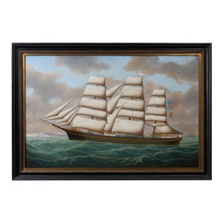 Henry Loos, Belgium or American School Master Ship Painting