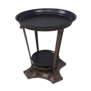 Claw Foot Travertine & Iron Foyer Table
