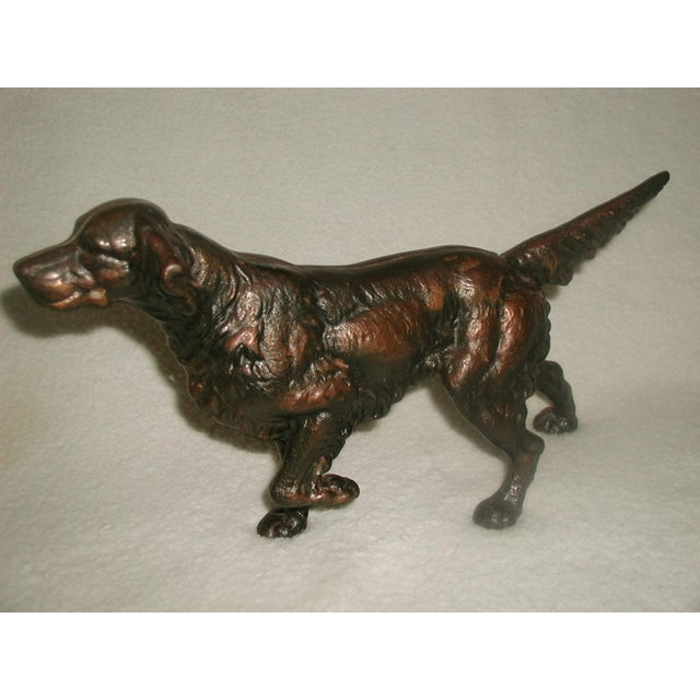 19th C. English Copper Cast Dog Setter - Image 4 of 8