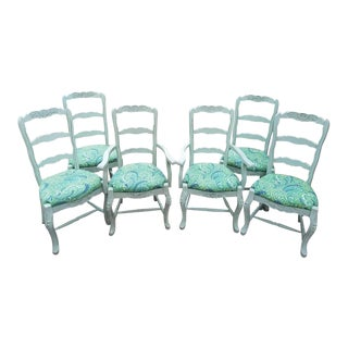 Vintage Hand- Carved Dinning Chairs - Set of 6