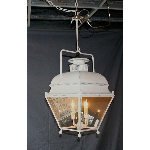 Large White Colonial Lantern - Image 2 of 7