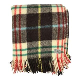 Vintage Foxford Tartan Irish Wool Blanket
