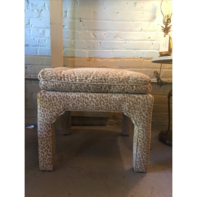 Scalamandre Leopard Print Bench/Ottoman - Image 2 of 5