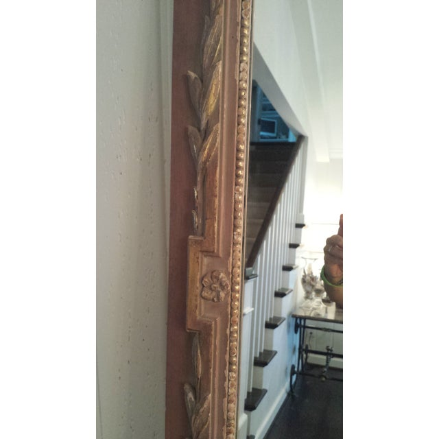 Vintage Painted Parcel Gilt Trumeau Mirror - Image 6 of 6