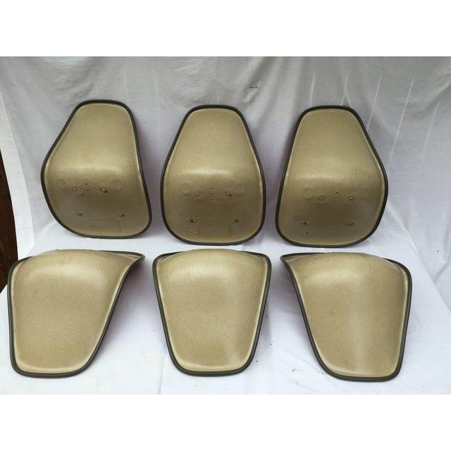 Eames Red Vinyl Amp Fiberglass Shells Set Of 6 Chairish