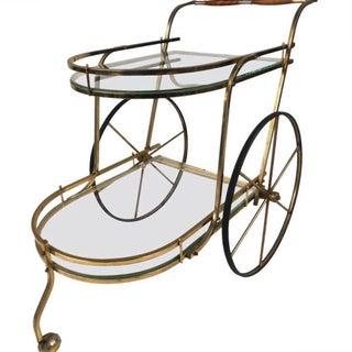 Mid-Century Two Tier Brass Bar Cart