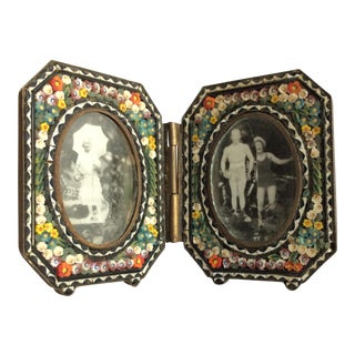 Italian Micro Mosaic Double Frame