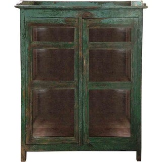 Cactus Green Glass Cabinet