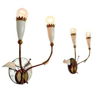 Italian Wall Sconces After Gio Ponti