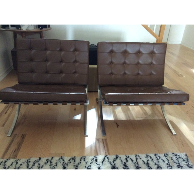 Image of Barcelona Style Chair - Pair